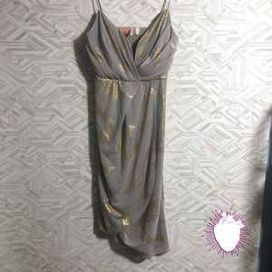 EUC Free people mint grey formal wrap dress
